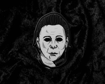 Myers Halloween Weatherproof Sticker By VOIDEaD