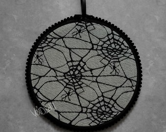 Spiderweb Lace Pin Display Hoop By VOIDEaD