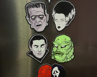 Assorted Horror Magnets  By VOIDEaD