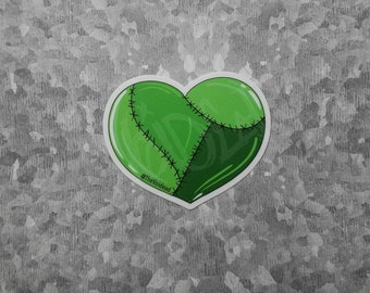 Zombie Heart Sticker By VOIDEaD