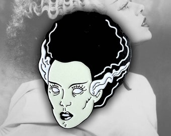 Bride of Frankenstein Enamel Lapel Pin By VOIDEaD