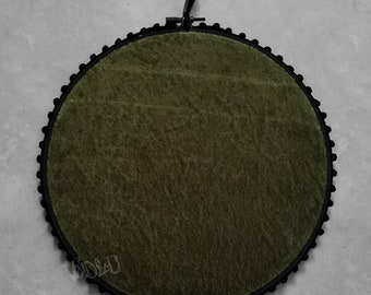 Chartreuse Green Crushed Velvet Pin Display Hoop By VOIDEaD
