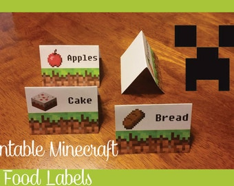 image about Free Printable Minecraft Food Tents named Printable food items Etsy