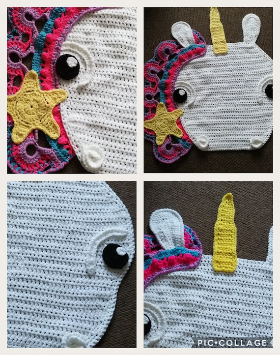 Grand Crochet Sophia Le Tapis Licorne Etoilee