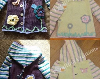 Girls Crochet Hoodie