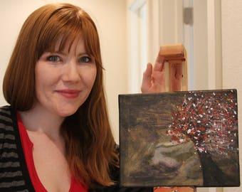 Mini, mini-art, small canvas, canvas, Original Acrylic Abstract, Contemporary Painting, Modern Wall art, Tree, Life, 8x10