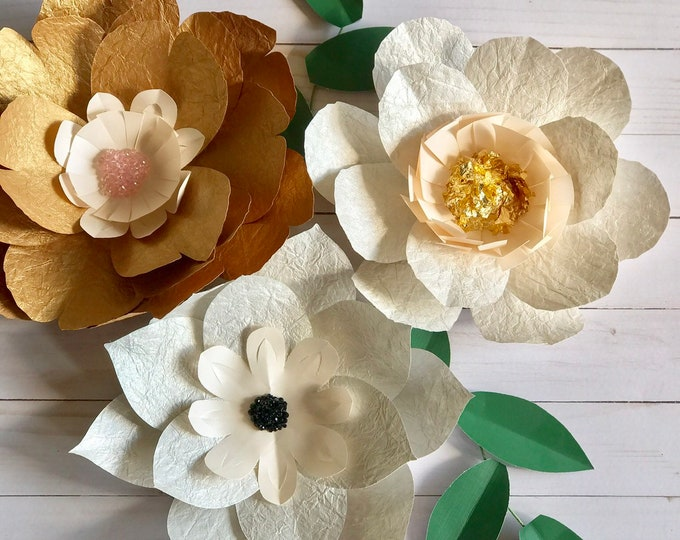 Vintage look flower decor 3d paper flower handmade paper flower
