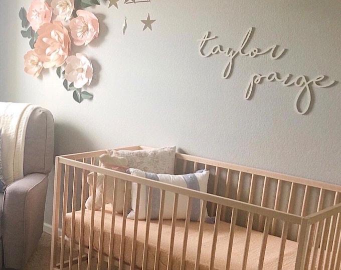 Blush nursery decor flowers above crib blush wedding decor flower wall backdrop