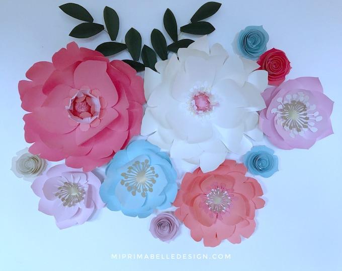 Paper Flowers Wall Decor - Mi Prima Belle
