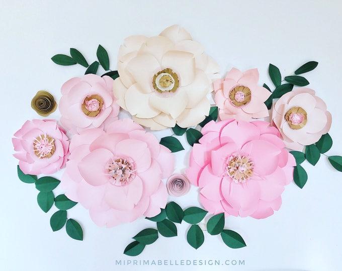 Paper Flowers Wall Decor Mi Prima Belle