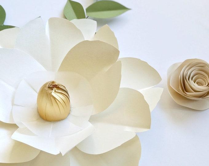 Cream nursery decor ivory paper flower wall cream wedding decor