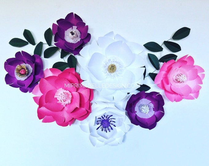 Paper Flowers Wall Decor - Mi Prima Belle