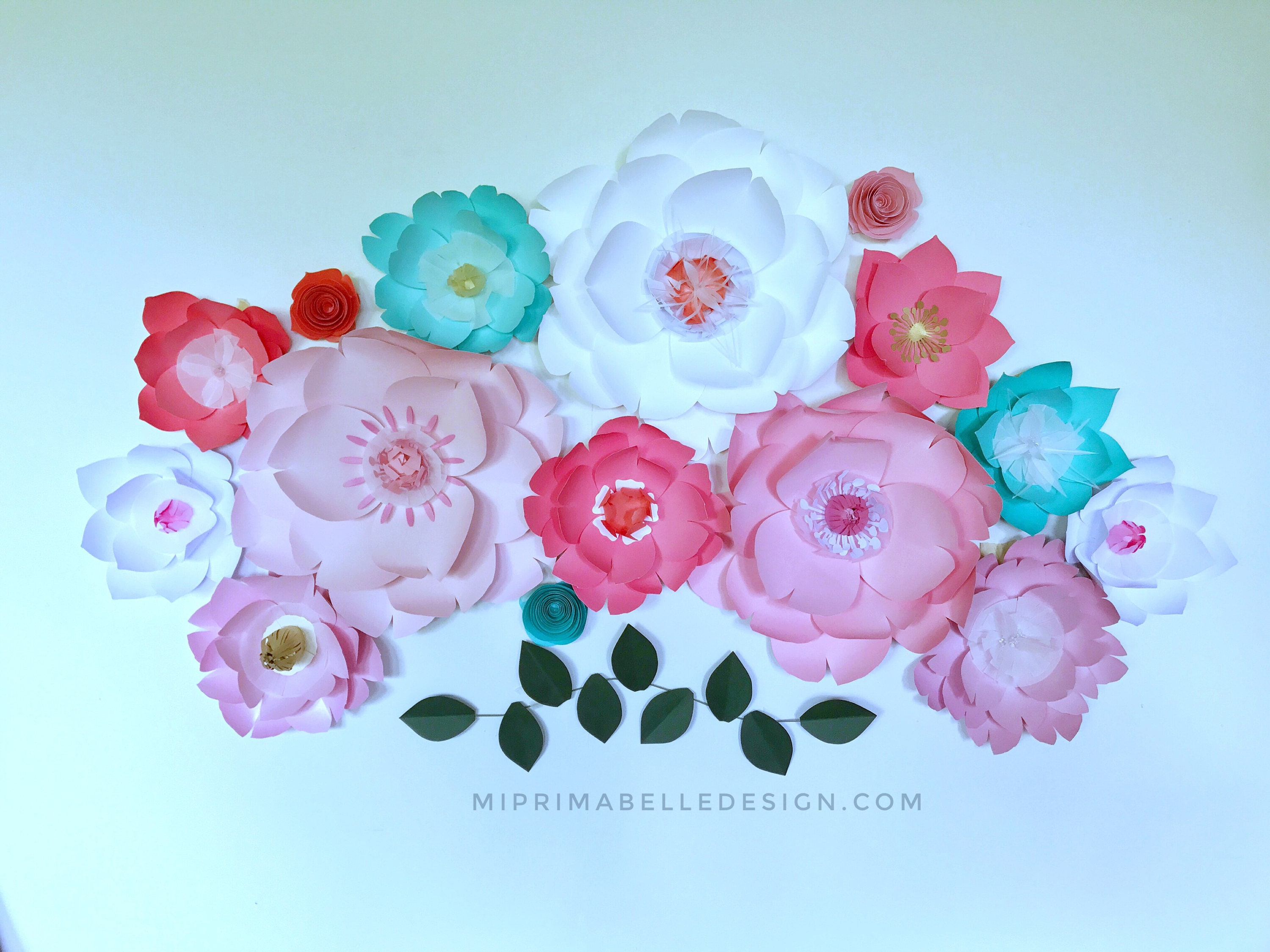 Turquoise Nursery Wall Decor Backdrop Wedding Coral Paper Flowers