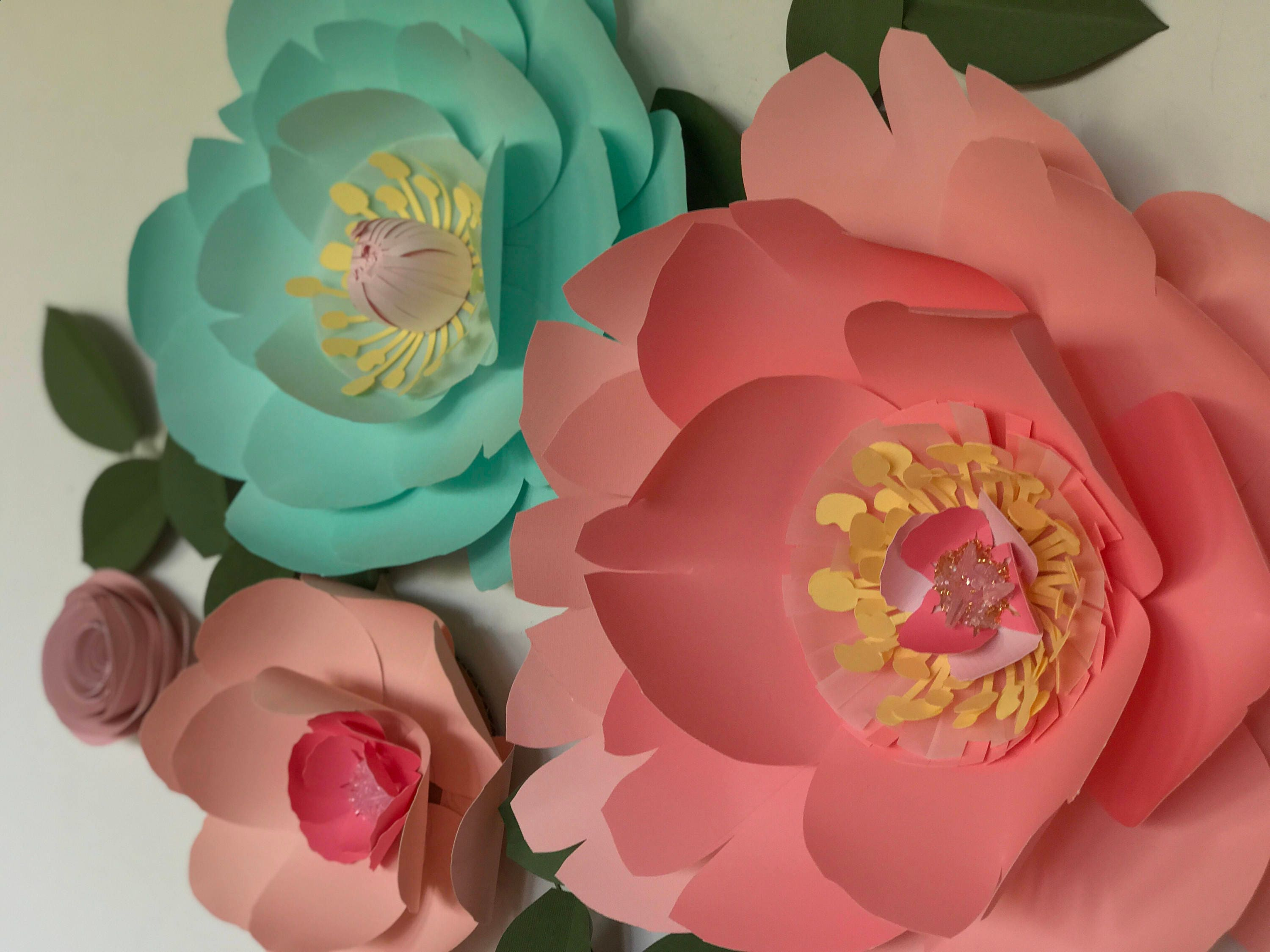 Turquoise paper flower coral wall decor mint baby girl nursery room coral paper flower gallery photo gallery photo gallery photo gallery photo gallery photo gallery photo mightylinksfo