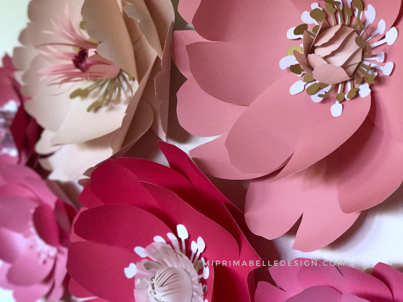 Paper Flowers Pink Baby Girl Nursery Room Giant Flower Wall Decor