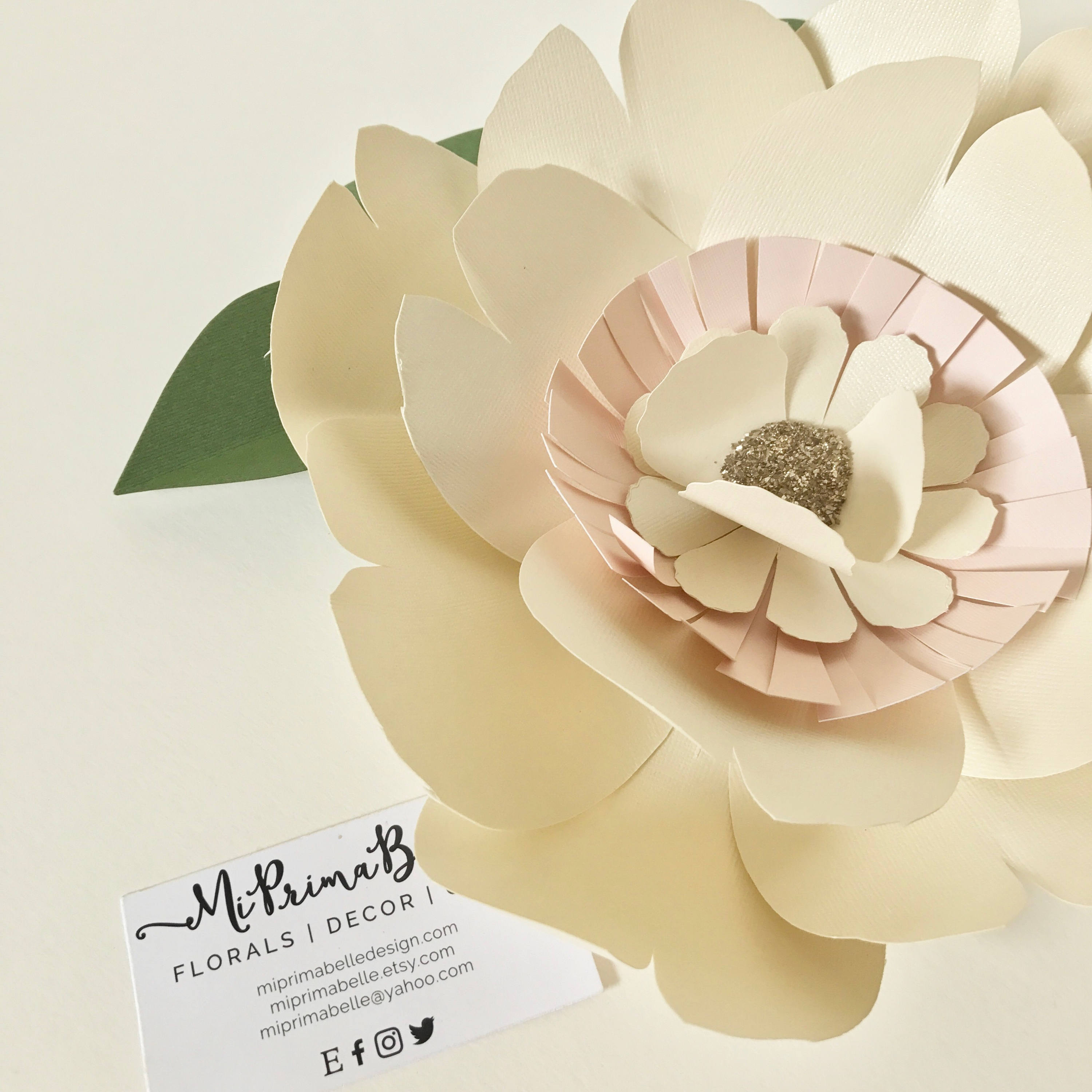 Paper flower sage green wall decor giant blush paper flower backdrop ...