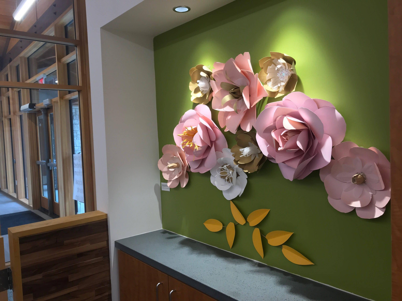 Wedding Backdrop Paper Flowers Pink Wall Decor Blush Girl Nursery