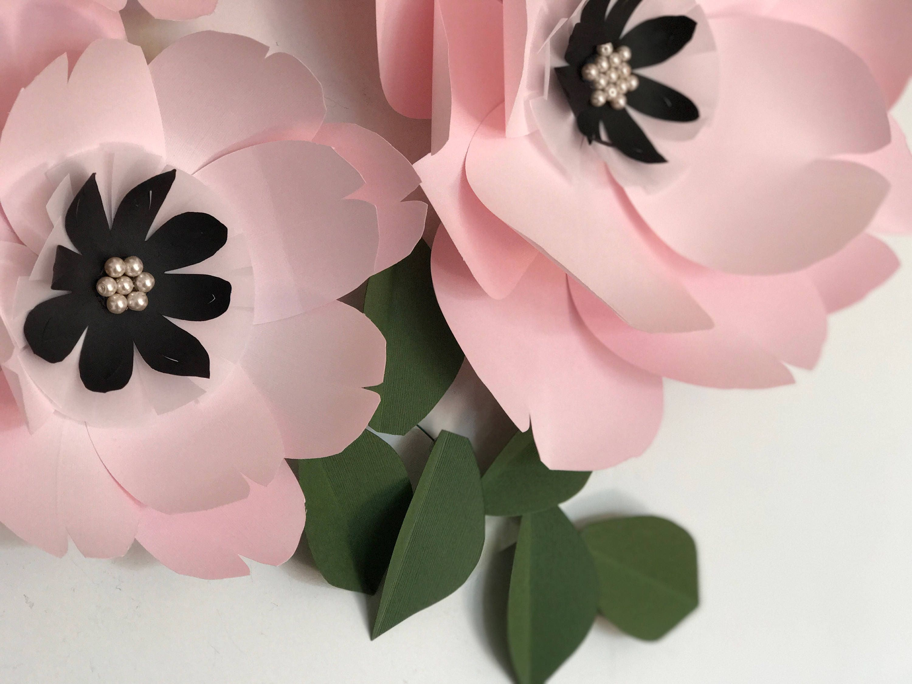 Paper flowers wall decor, pink paper flowers, baby girl nursery ...