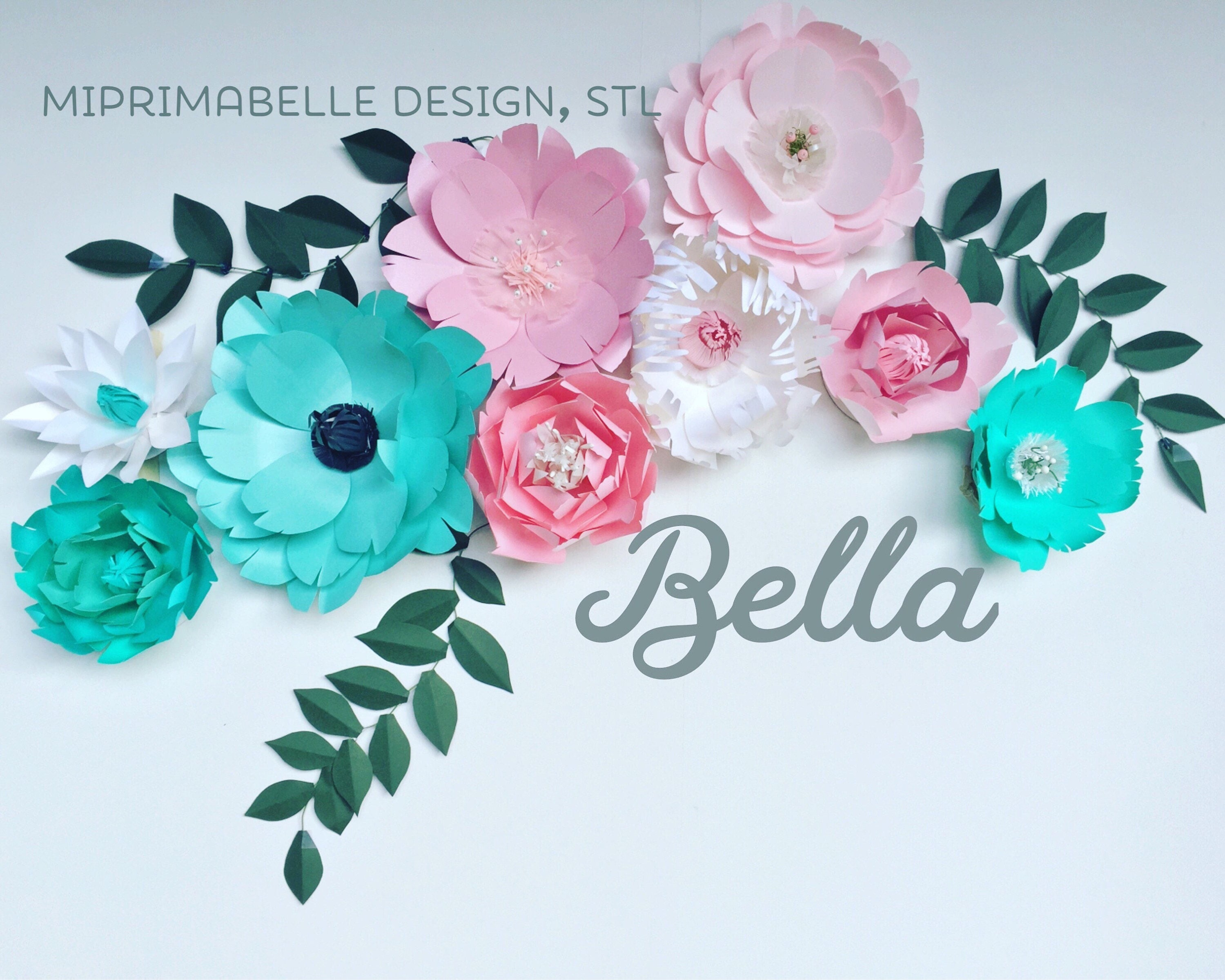 Turquoise wall decor paper flowers wall decor baby girl nursery teal turquoise wall decor paper flowers wall decor baby girl nursery teal room decor paper flowers large pink giant paper flower wedding backdrop mightylinksfo