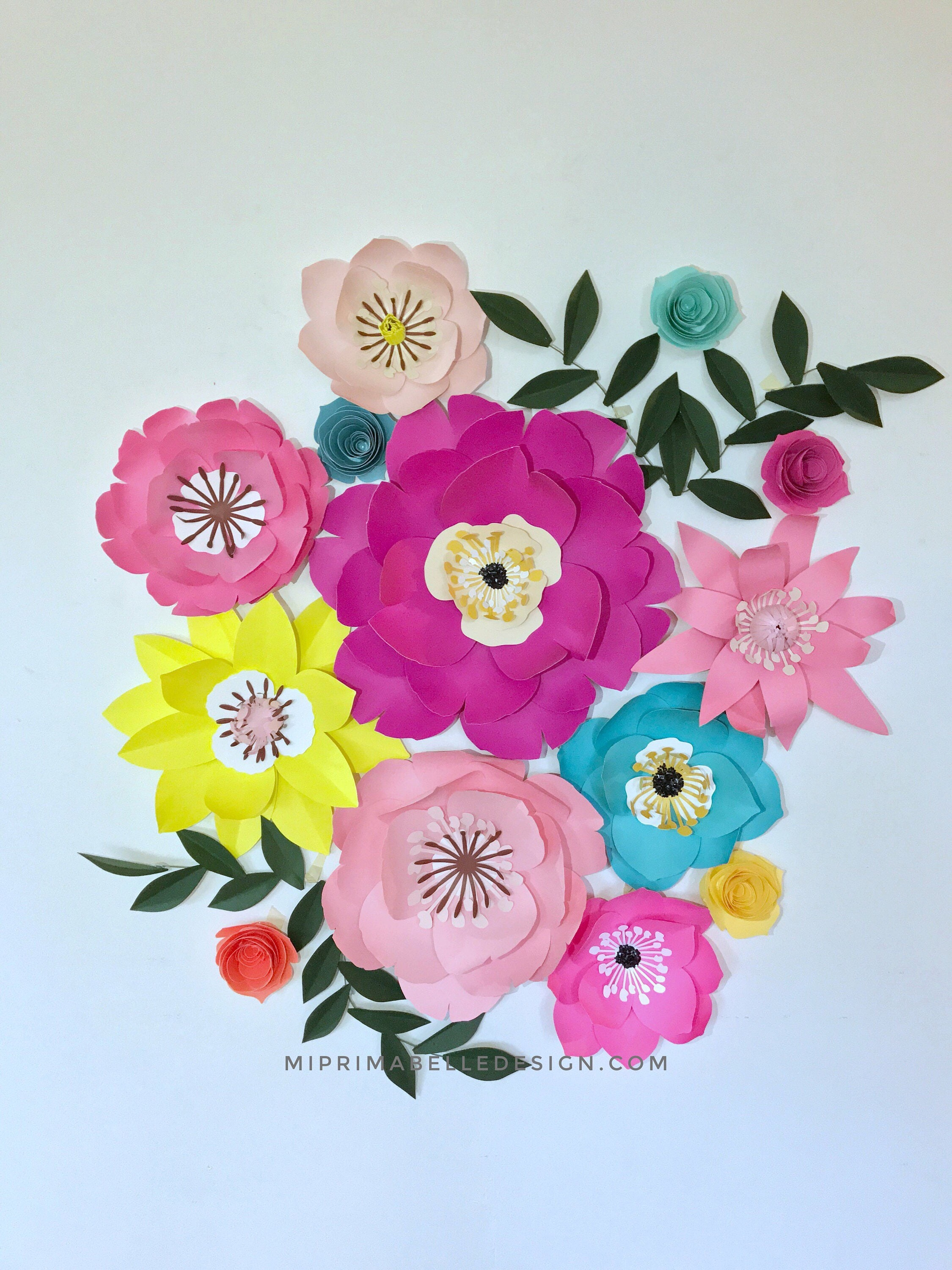 Nursery decor paper flower wall decor new mom gift magenta decor ...