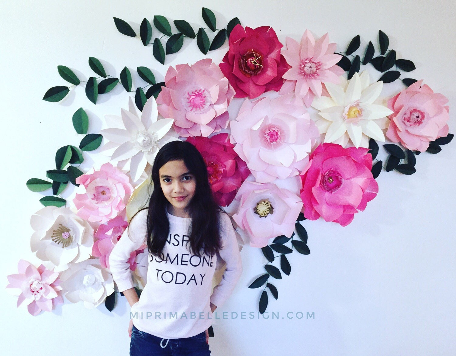 Paper Flowers Pink Paper Flowers Pink Wall Backdrop Baby Girl