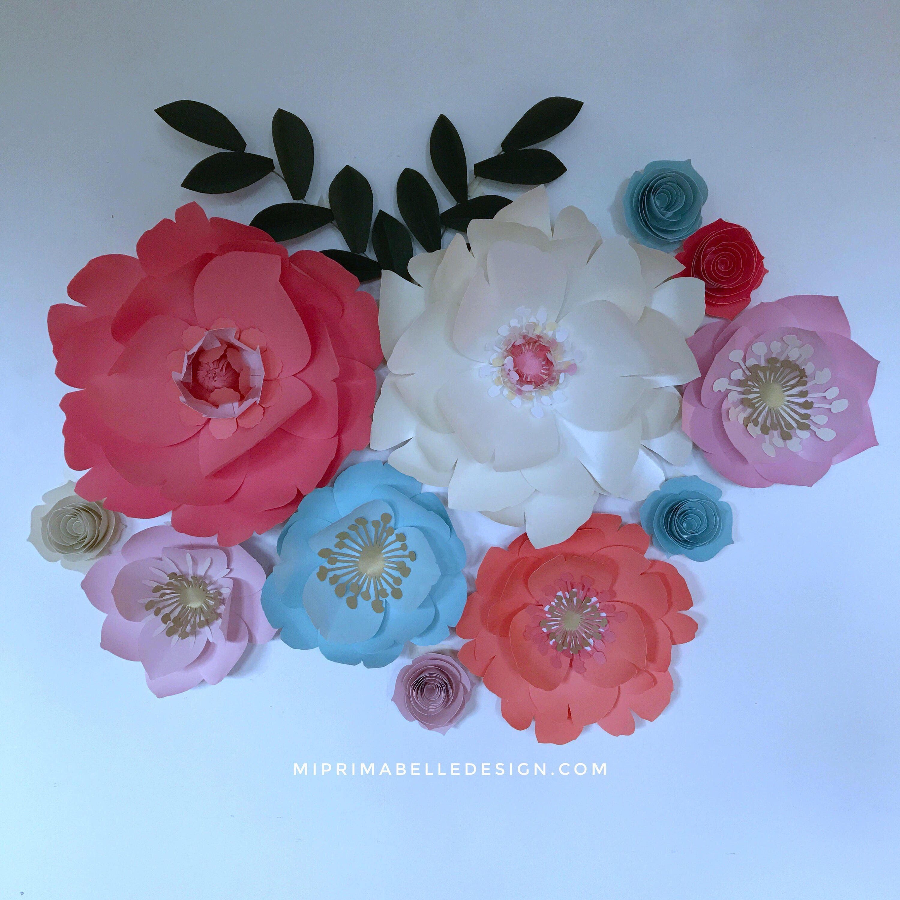 Baby Blue Paper Flower Wall Decor Baby Nursery Light Blue Paper