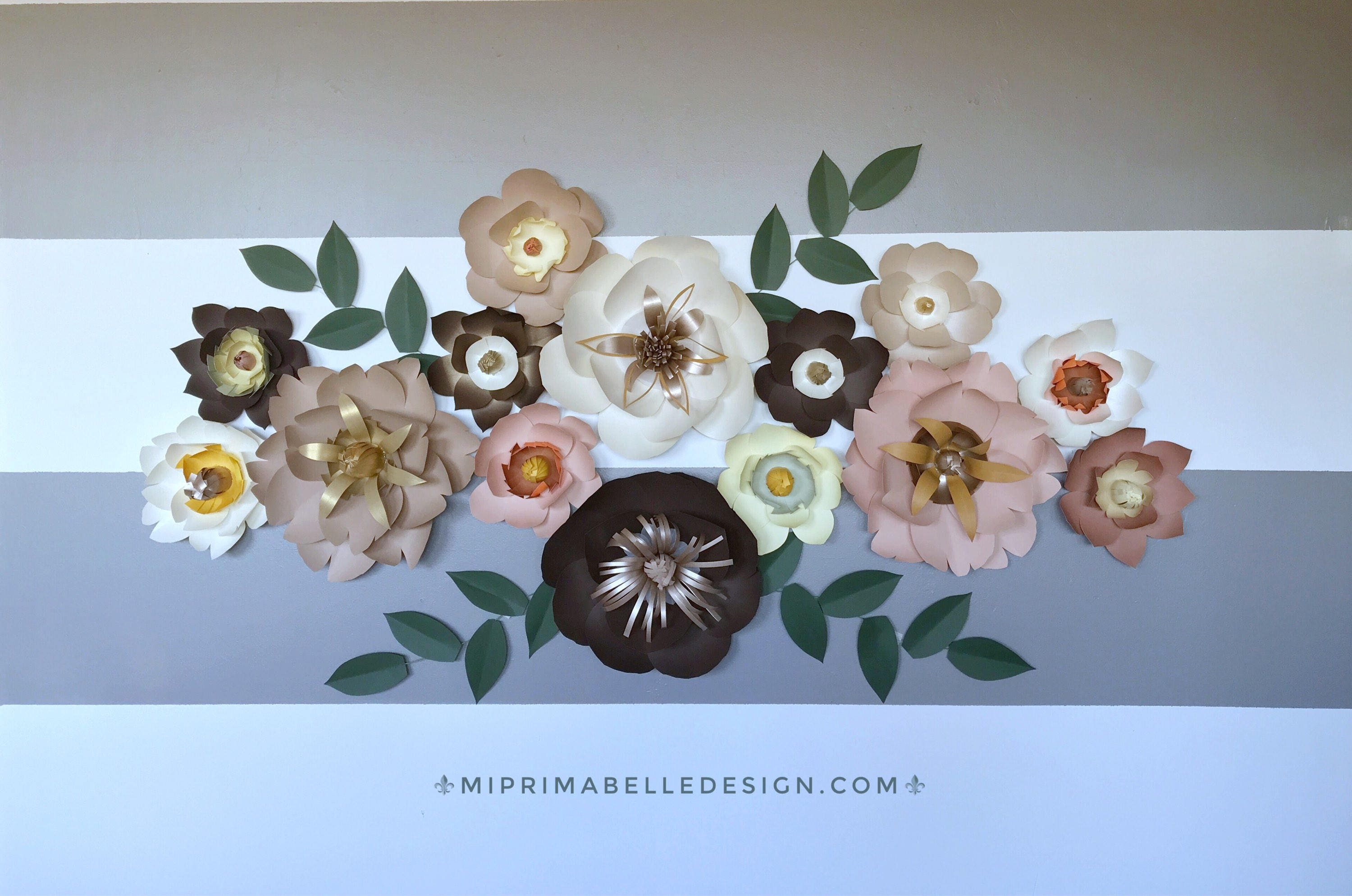 Paper Flower Woodland Decor Nursery Forest Color First Girl Birthday