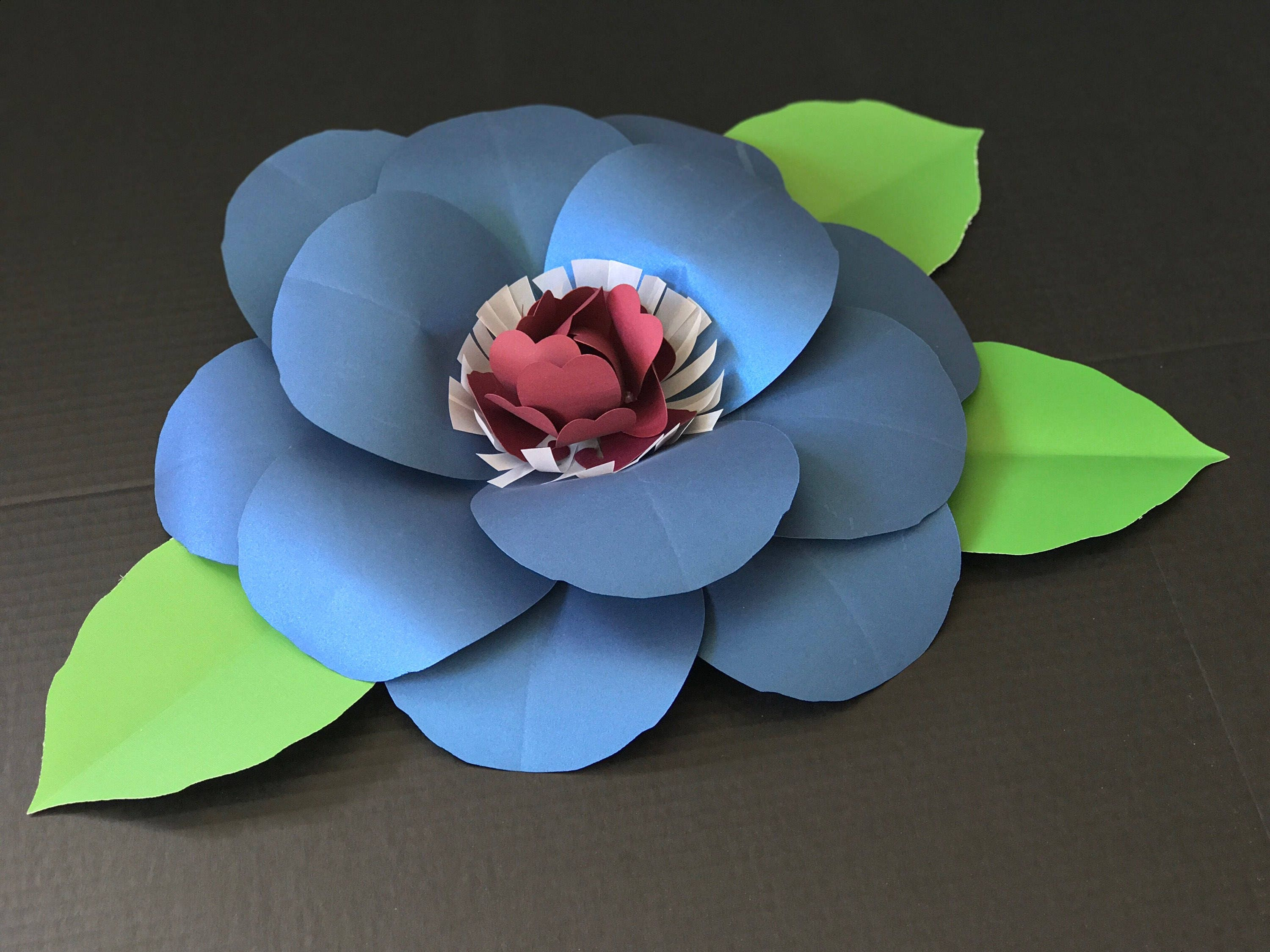 Navy Blue Large Paper Flower Wall Decor Burgundy Giant Paper Flower