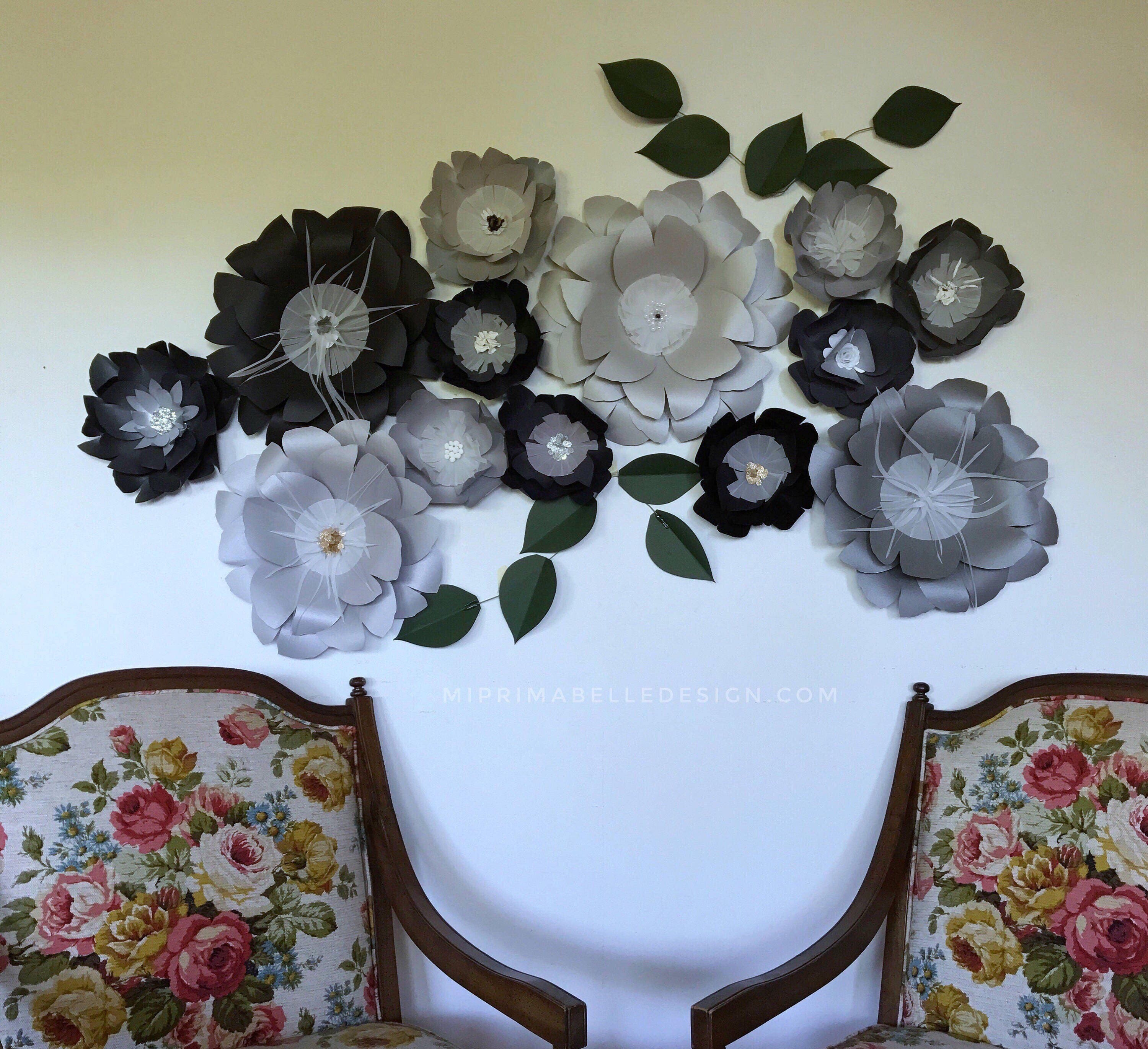 Black paper flowers black wall decor black giant flowers black wall black paper flowers black wall decor black giant flowers black wall decor large paper flowers black flower backdrop black wedding backdrop mightylinksfo