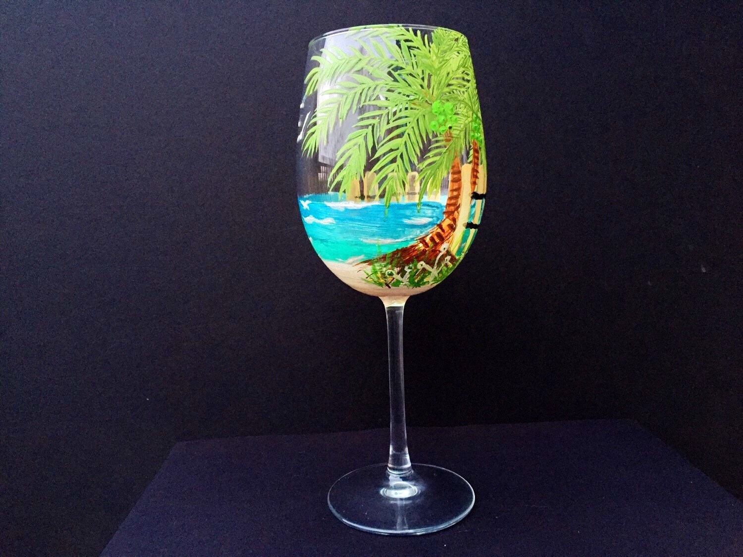 Beach Themed Wine Glasses Glass Designs