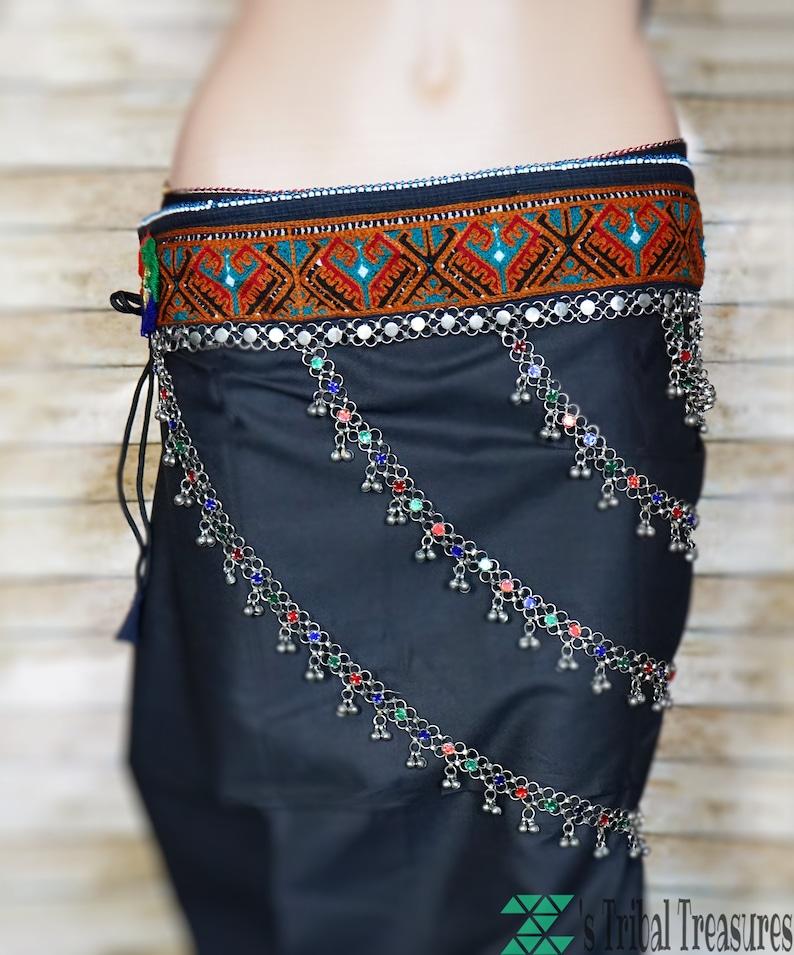 Chains kuchi belt,Turkmen belt,Afghan kuchi belt,Gypsy belt,Banjara belt,Belly dance belt,Silver tone Tribal belt,Ethnic belt,Afghan jewelry