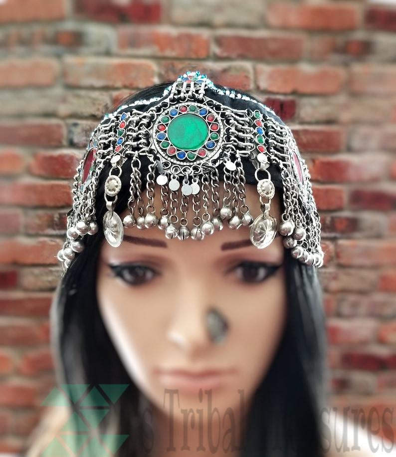 Buy Cheap Afghan Kuchi Headpiece Tribal Coins Belly Dance Ethnic Bohemian Head Dress Gypsy 100% Guarantee Hair & Head Jewelry
