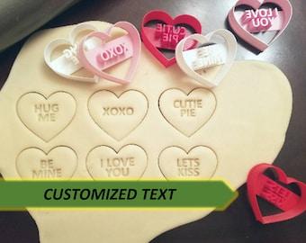 CUSTOM Candy Conversation Heart Cookie Cutters