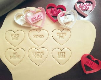 Candy Conversation Heart Cookie Cutters