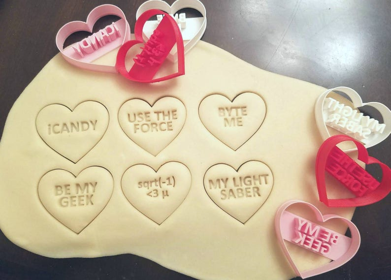 Geeky Candy Heart Cookie Cutters image 0