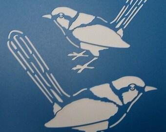 Blue Wren Stencil