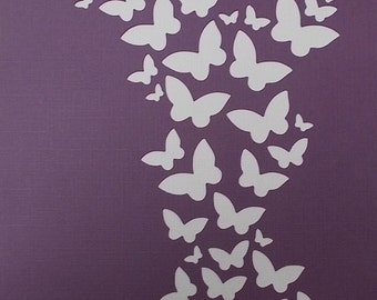 Butterfly Background Stencil
