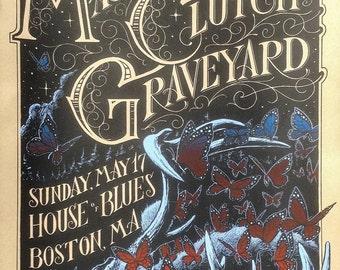 Mastodon | Clutch | Graveyard Silkscreened Gig Poster