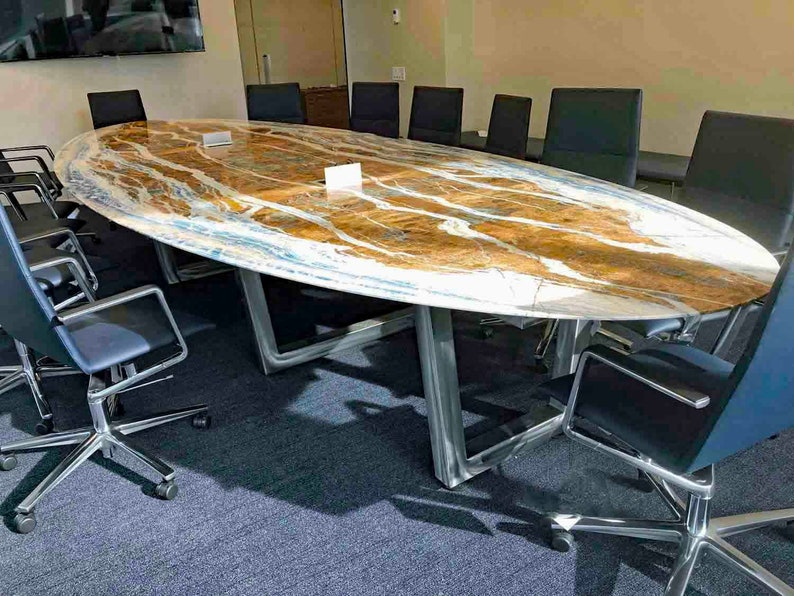 Custom Conference Table, (Tops Sold Separately), Boardroom Table Or Meeting  Table, Metal Table Base, Modern Or Industrial