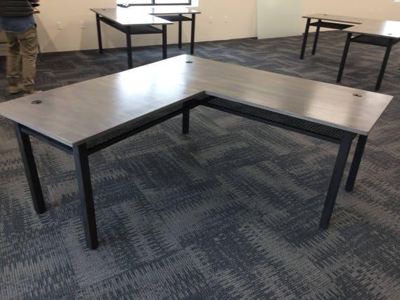 L Shaped Desk Industrial Desk Computer Desk Home Office | Etsy