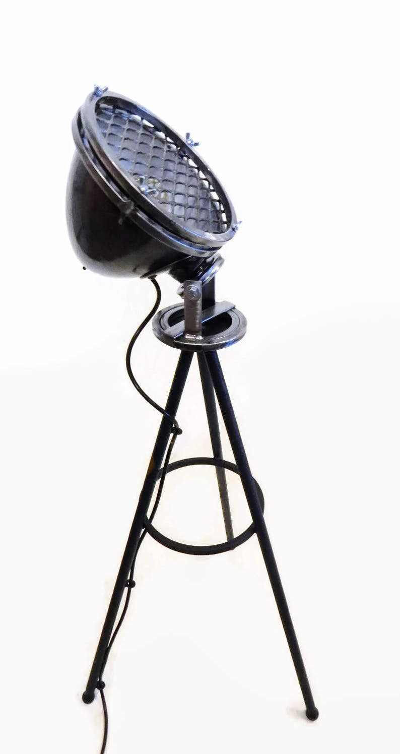 Industrial Floor Lamp One of a Kind Industrial Lamp Vintage automobile light