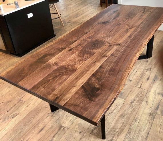 Live Edge Table Wood Slab For Dining Or Conference Table Etsy - Wood slab conference table