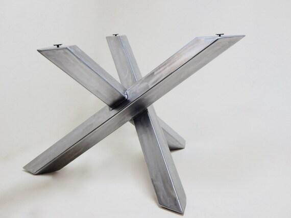 Modern Industrial Table Base Steel Table Legs Welded Modern | Etsy