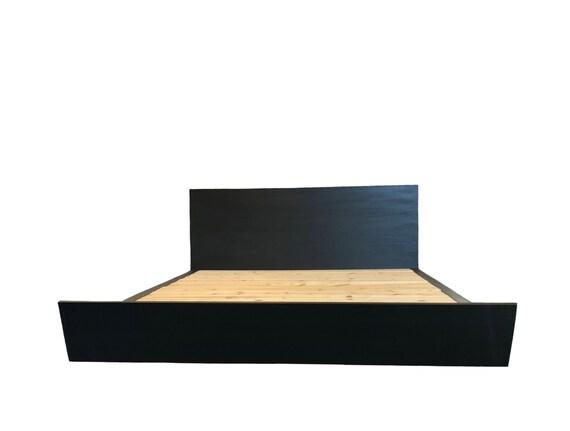 Sleigh Bed, Low Profile Platform Bed, Minimalist bedroom set, Bedside  Table, Nightstand, Dresser, Modern Sleigh Bed, Scandinavian Furniture