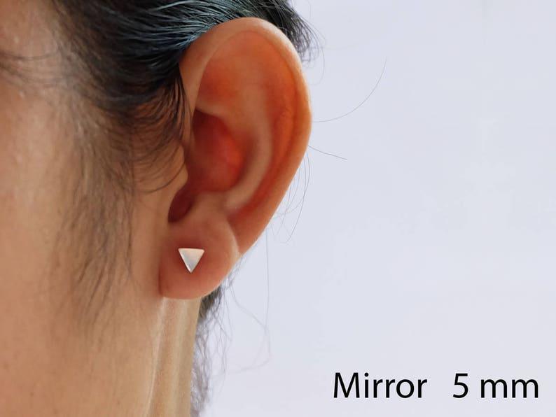 5e2201de6 Tiny Triangle Sterling Silver Stud Earrings Geometric | Etsy