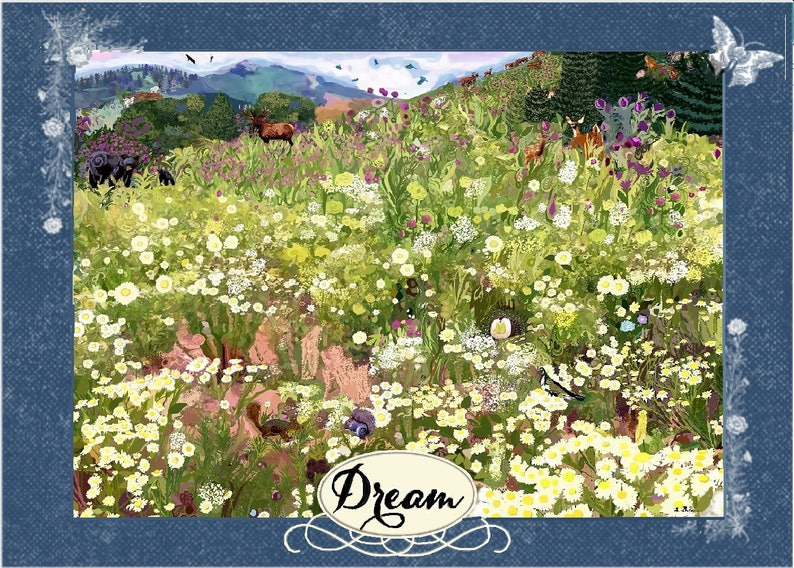 Ski Slope Notecard Wildlife Stationery For Women A Walk In Park City Thank You Card Flower Painting Notecard Nature Scene Post Card