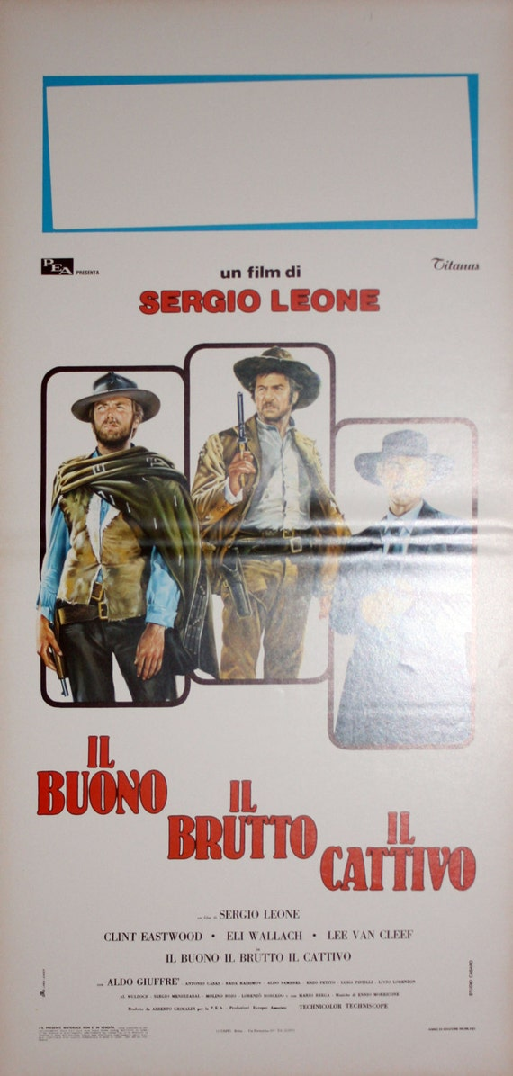 Bad 70 Cm.The Good The Ugly The Bad Original Movie Posters 33 X 70 Cm