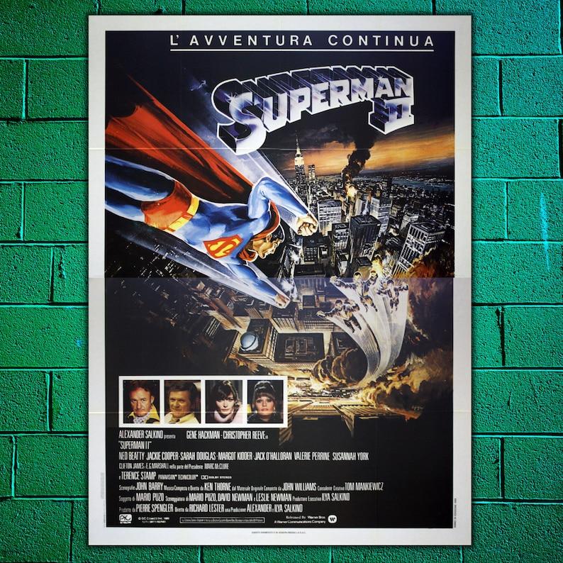 Oryginalny Plakat Superman Ii Rozmiar 140 X 200 Cm Krzysztof Reeve