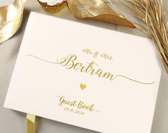 Foil Rose Gold / Silver / Gold Custom Wedding Guest Book