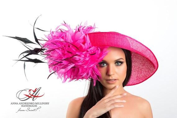 Fuchsia Pink Designers Fascinator Melbourne Kentucky hat with  de37da62a23